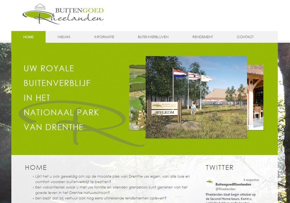 Website Buitengoed Rheelanden