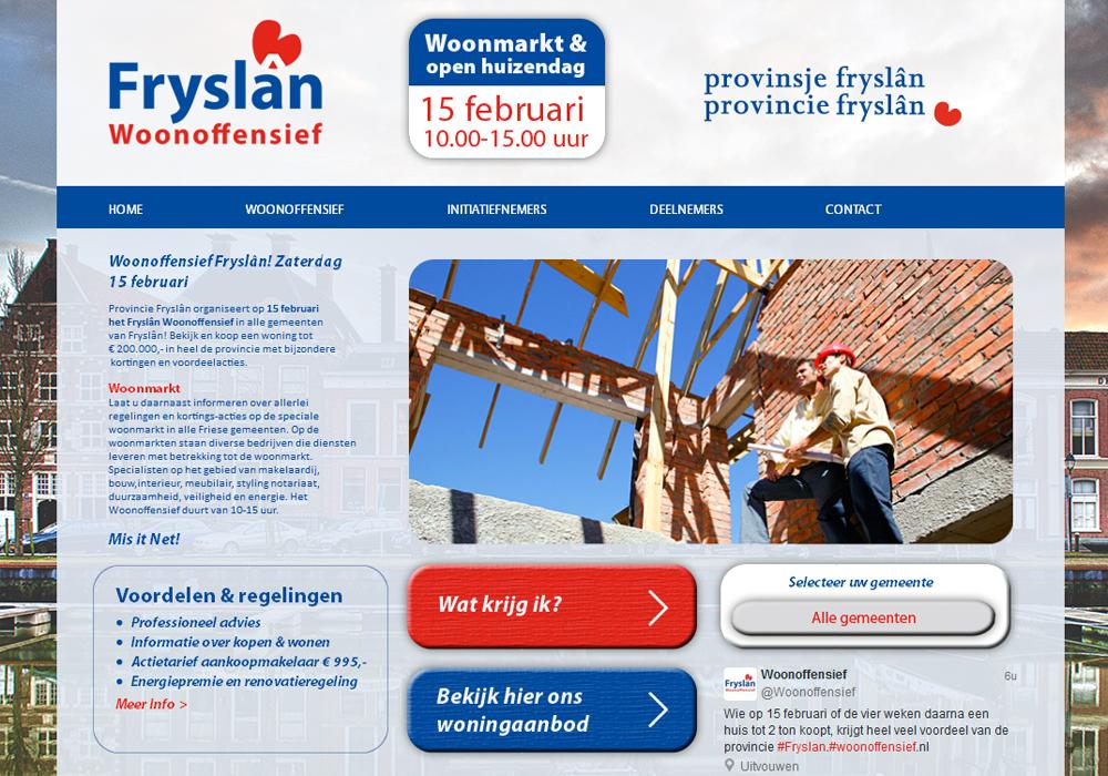 Website Friesland Woonoffensief