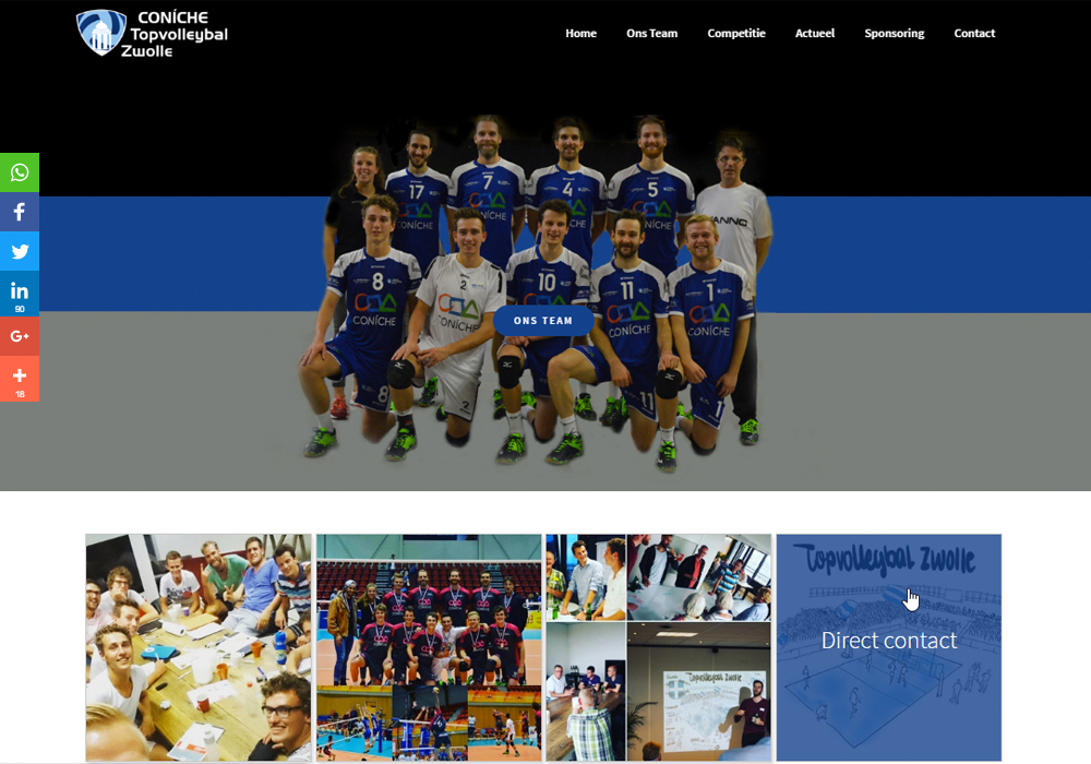 Website Topvolleybal Zwolle