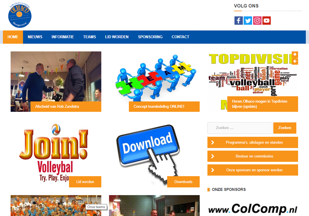 Website Volleybalvereniging Olhaco